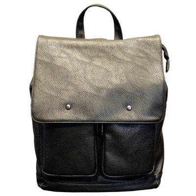 buy black leather backpack