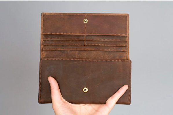 Buy leather wallet Vintage