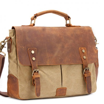 Buy Briefcase Combo Made of Leather and Canvas