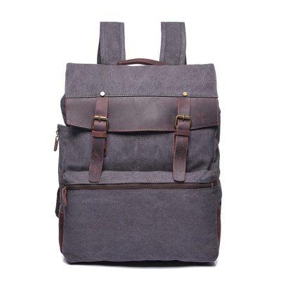 Купить рюкзак из прочного материала canvas и кожи в Бишкеке