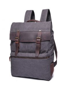 Купить рюкзак из прочного материала canvas и кожи