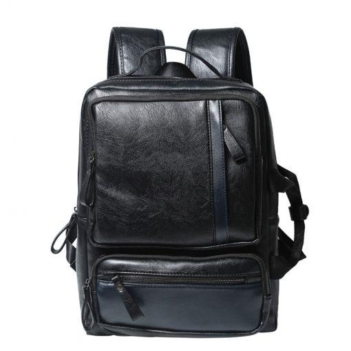 Купить черный офисный рюкзак из кожи (артикул: 210) в Бишкеке