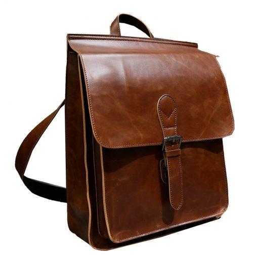Купить кожаную рюкзак-сумку (артикул: 245) в Бишкеке