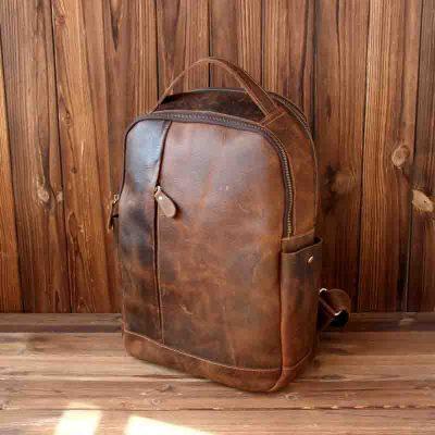 Купить классический кожаный рюкзак (артикул: 271) в Бишкеке