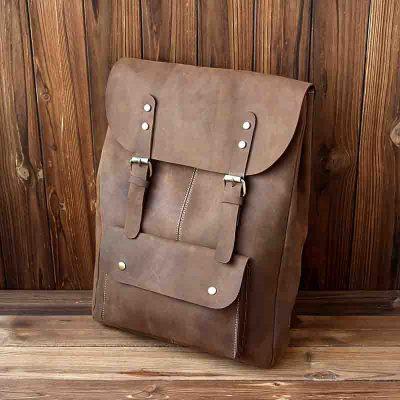 Купить рюкзак из натуральной кожи для подростков (артикул: 269) в Бишкеке